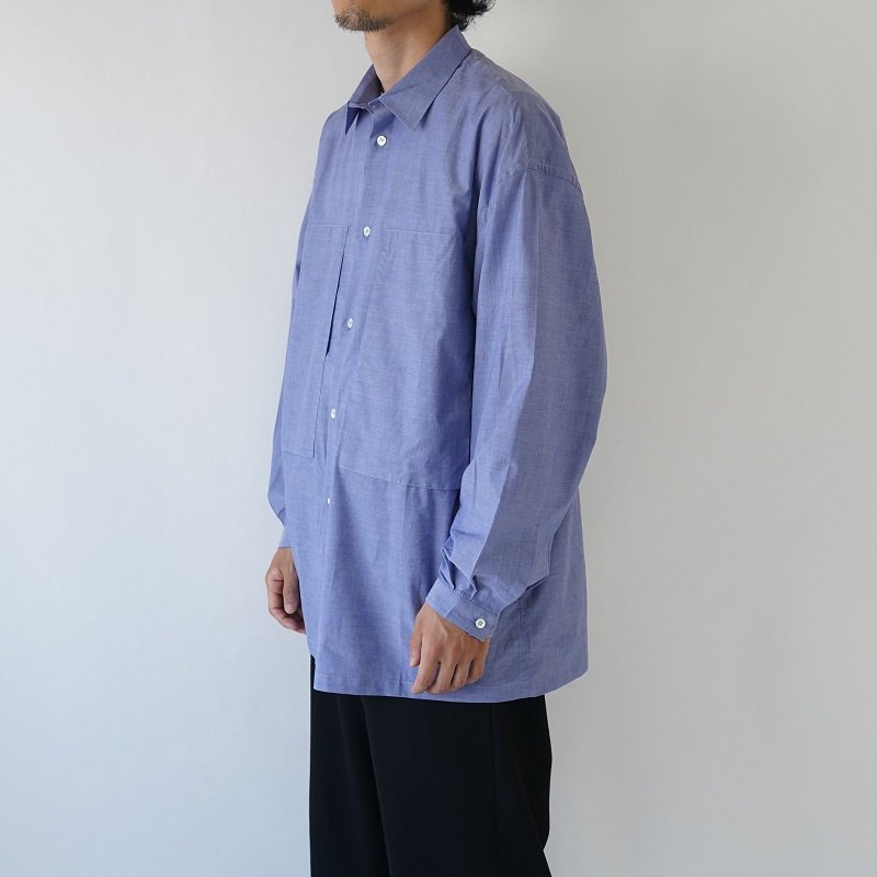 【E.TAUTZ イートウツ】CORE LINEMAN SHIRT / DENIM BLUE