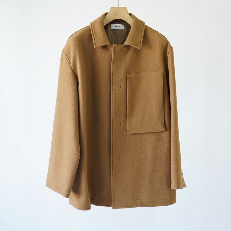 【WELLDER ウェルダー】 BOXY CAR COAT / CAMEL
