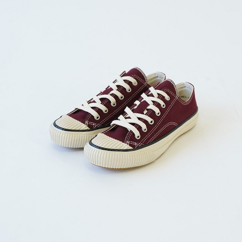 【PRAS プラス】SHELLCAP LOW COLOR / BURGUNDY×OFF WHITE