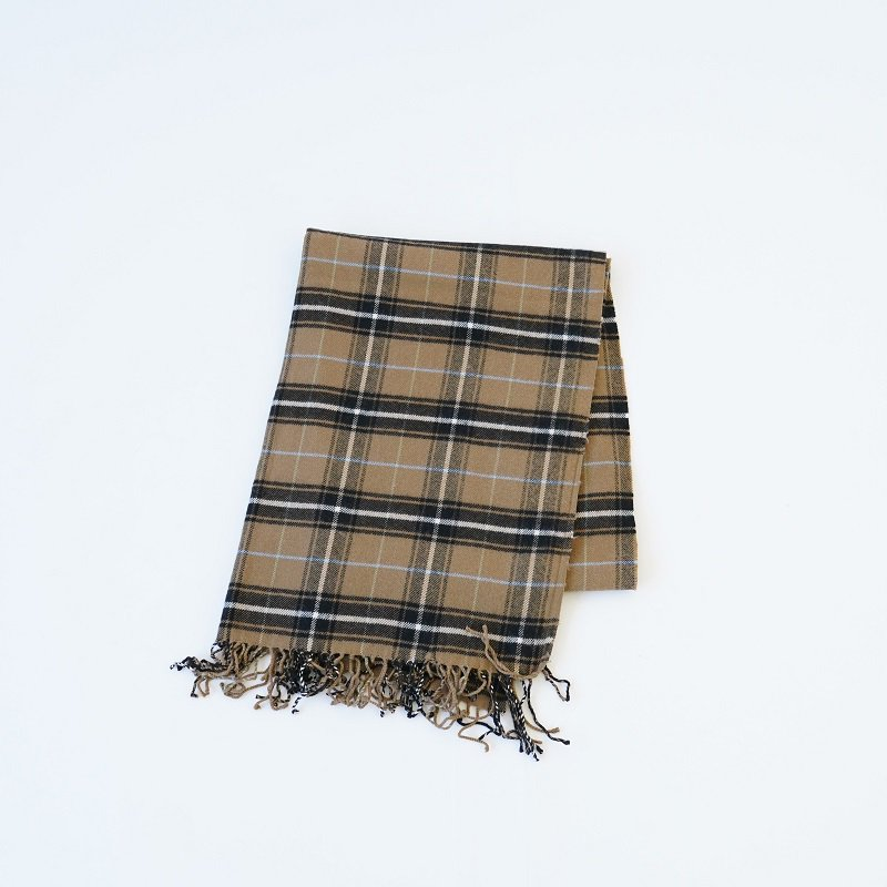 【loomer ルーマー】PIMA COTTON ALPACA FLANNEL STOLE / CAMEL CHECK