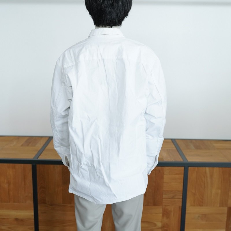 【1/11 再値下げ 50%OFF】【MAN-TLE マントル】 REGULAR SHIRT / WHITE WAX<img class='new_mark_img2' src='https://img.shop-pro.jp/img/new/icons20.gif' style='border:none;display:inline;margin:0px;padding:0px;width:auto;' />
