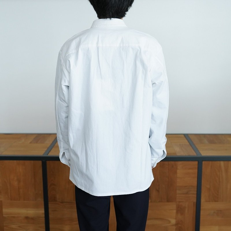 【MAN-TLE マントル】 REGULAR SHIRT / WHITE BIO<img class='new_mark_img2' src='https://img.shop-pro.jp/img/new/icons20.gif' style='border:none;display:inline;margin:0px;padding:0px;width:auto;' />
