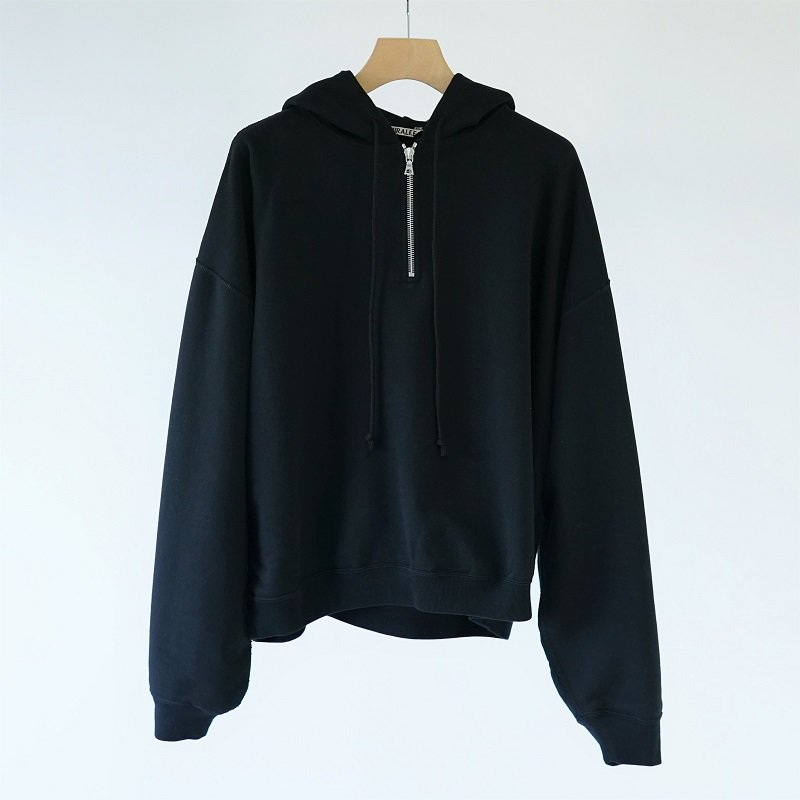 【AURALEE オーラリー】 SUPER SOFT SWEAT BIG P/O PARKA -WOMEN- / BLACK<img class='new_mark_img2' src='https://img.shop-pro.jp/img/new/icons20.gif' style='border:none;display:inline;margin:0px;padding:0px;width:auto;' />