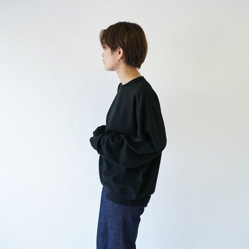 【AURALEE オーラリー】 SUPER SOFT SWEAT BIG P/O -WOMEN- / BLACK