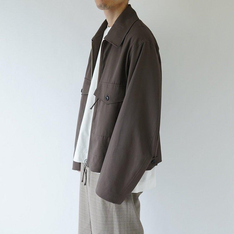 【URU ウル】 ZIP UP BLOUSON / BROWN