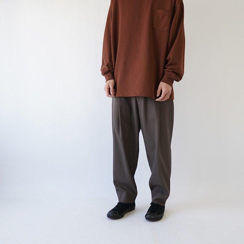 【URU ウル】 1 TUCK PANTS / BROWN