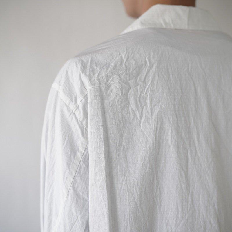 【URU ウル】OPEN COLLAR L/S SHIRTS / WHITE