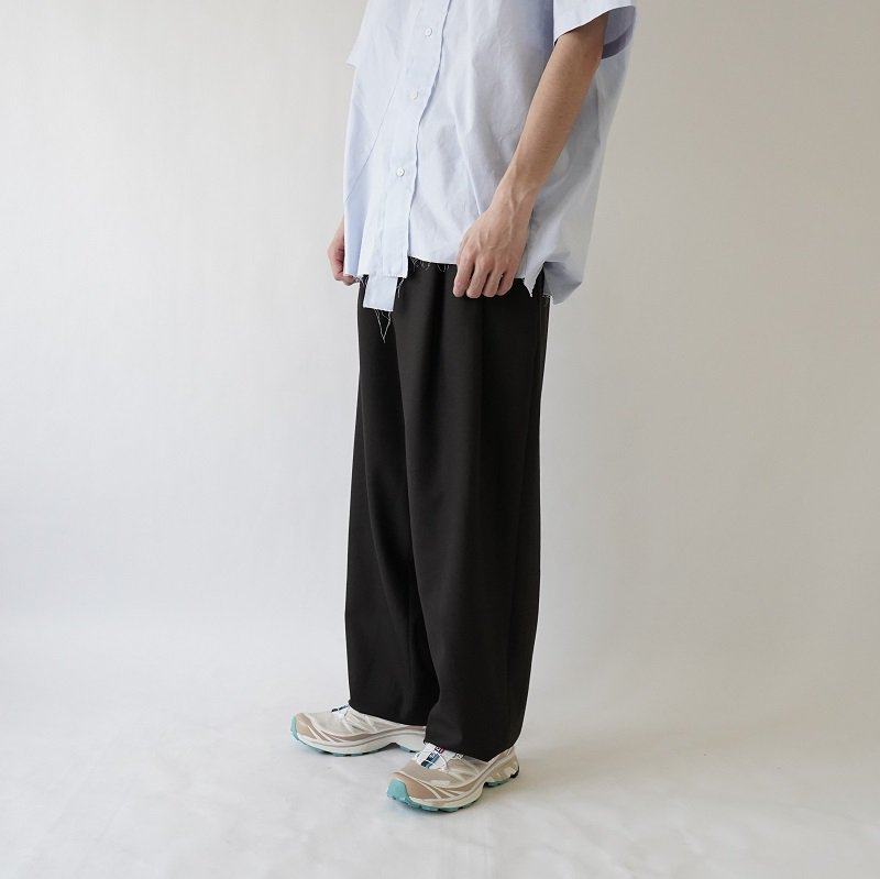 【CAMIEL FORTGENS カミエルフォートヘンス】SUIT PANTS WOOL / BROWN