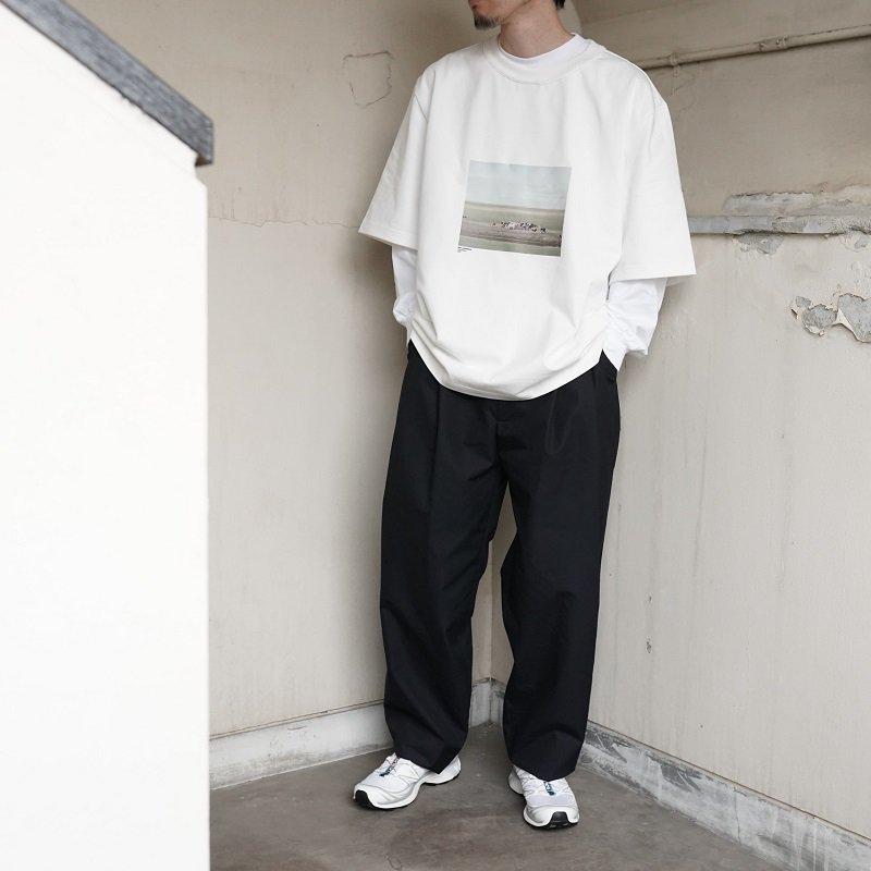 【CAMIEL FORTGENS カミエルフォートヘンス】SUIT PANTS COTTON / DARK BLUE