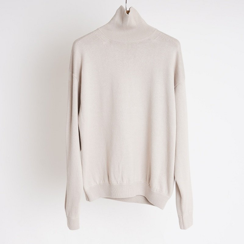 【crepuscule クレプスキュール】COTTON CASHMERE TURTLE / IVORY
