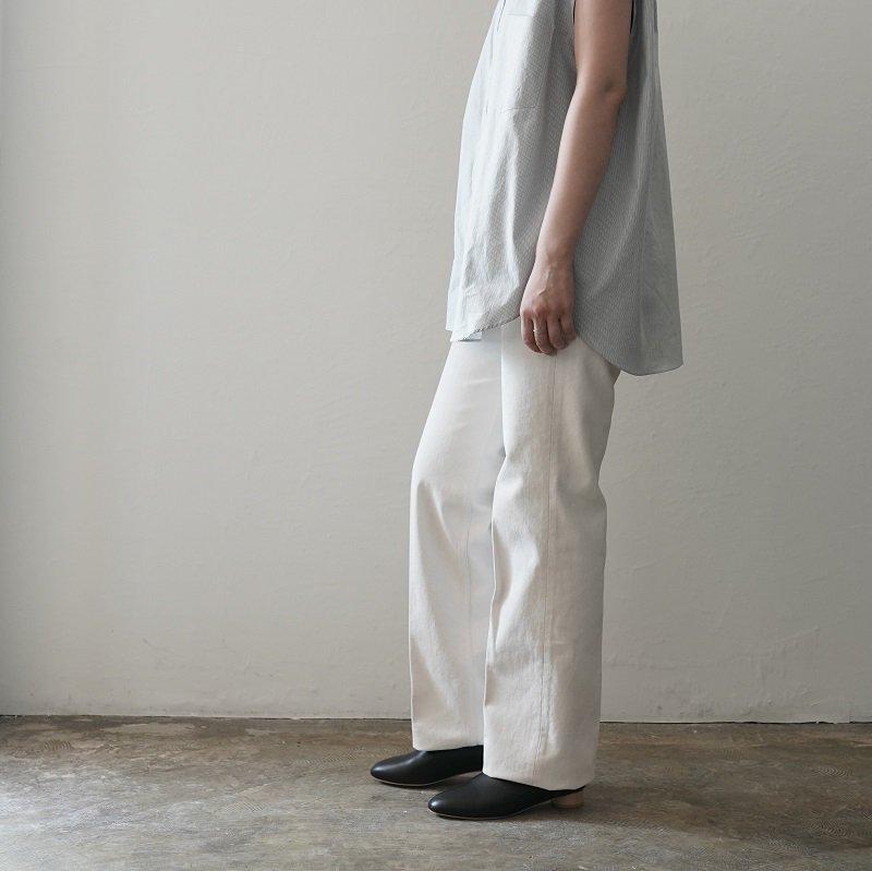 【AURALEE オーラリー】HARD TWIST DENIM 5P PANTS -WOMEN- / WHITE×IVORY