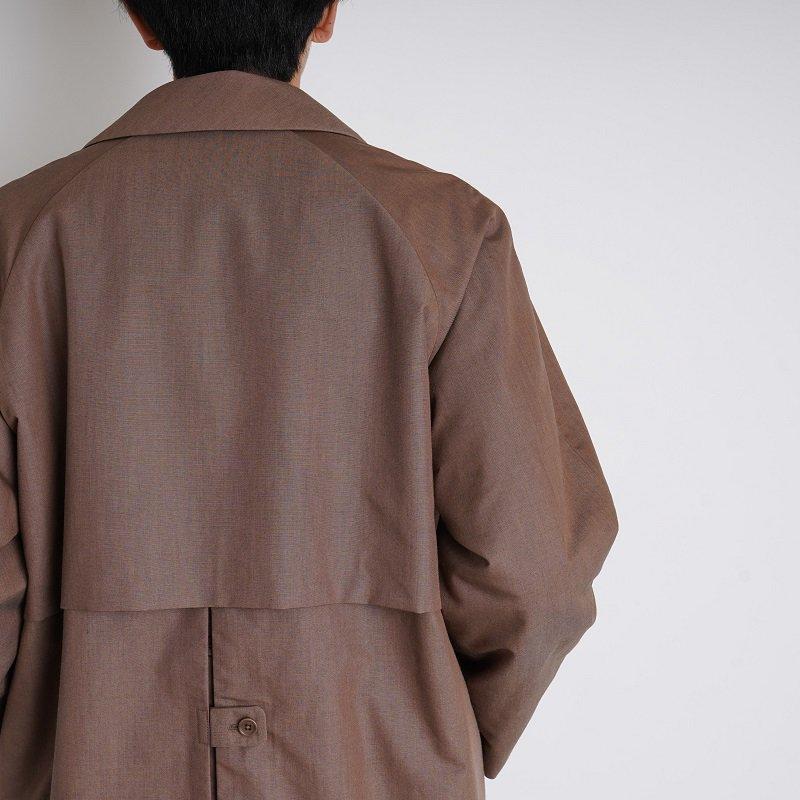 【YAECA ヤエカ】SOUTIEN COLLAR COAT LONG / BROWN
