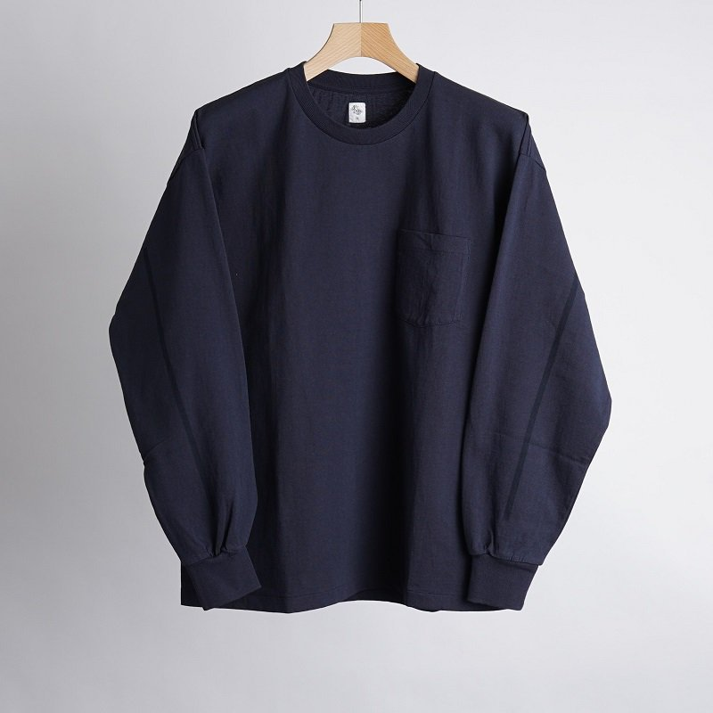 【KAPTAIN SUNSHINE キャプテンサンシャイン】 WEST COAST L/S TEE  / NAVY×NAVY LINE  <img class='new_mark_img2' src='https://img.shop-pro.jp/img/new/icons20.gif' style='border:none;display:inline;margin:0px;padding:0px;width:auto;' />