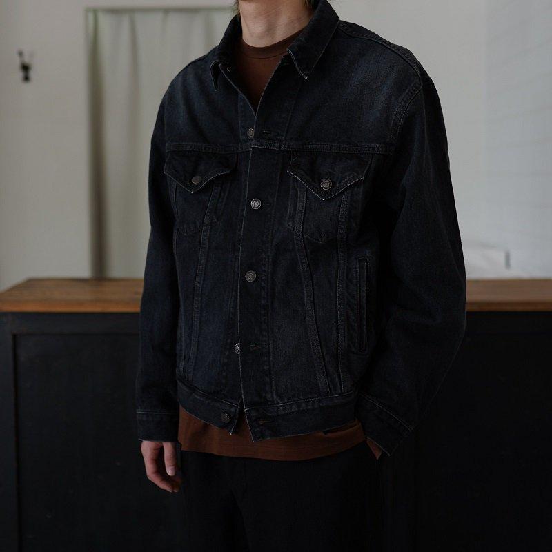 【21AW】【CIOTA シオタ】 ブラック スビンコットン 13,5oz デニムジャケット / MEDIUM BLACK