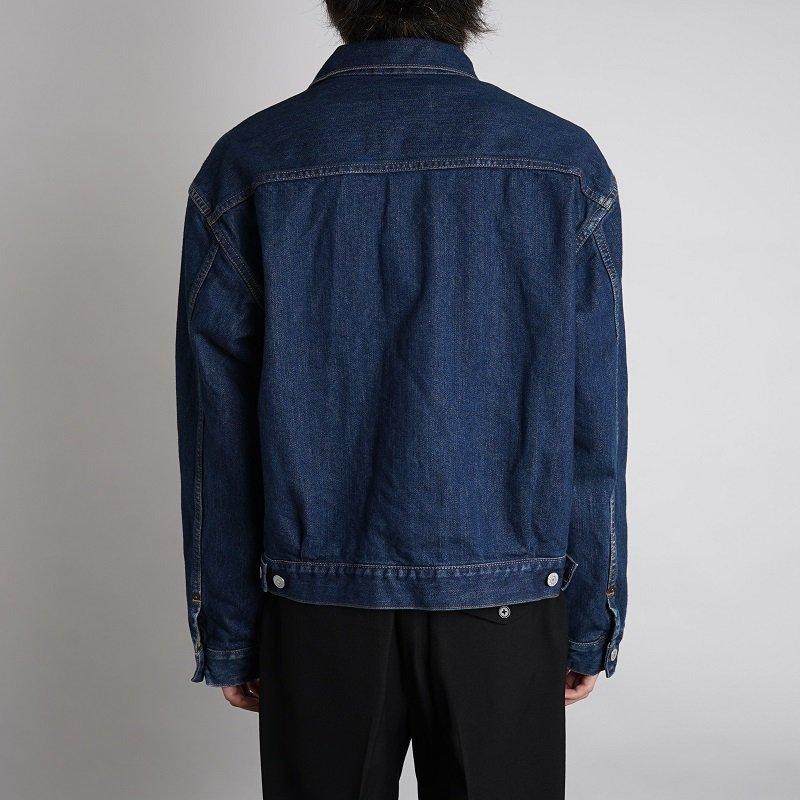 【21AW】【CIOTA シオタ】 インディゴ スビンコットン 13.5oz デニムジャケット / DARK BLUE DAMAGE