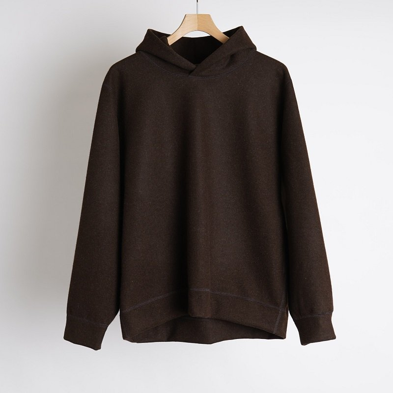 【Cale カル】  WOOL FELT PULL OVER / BROWN