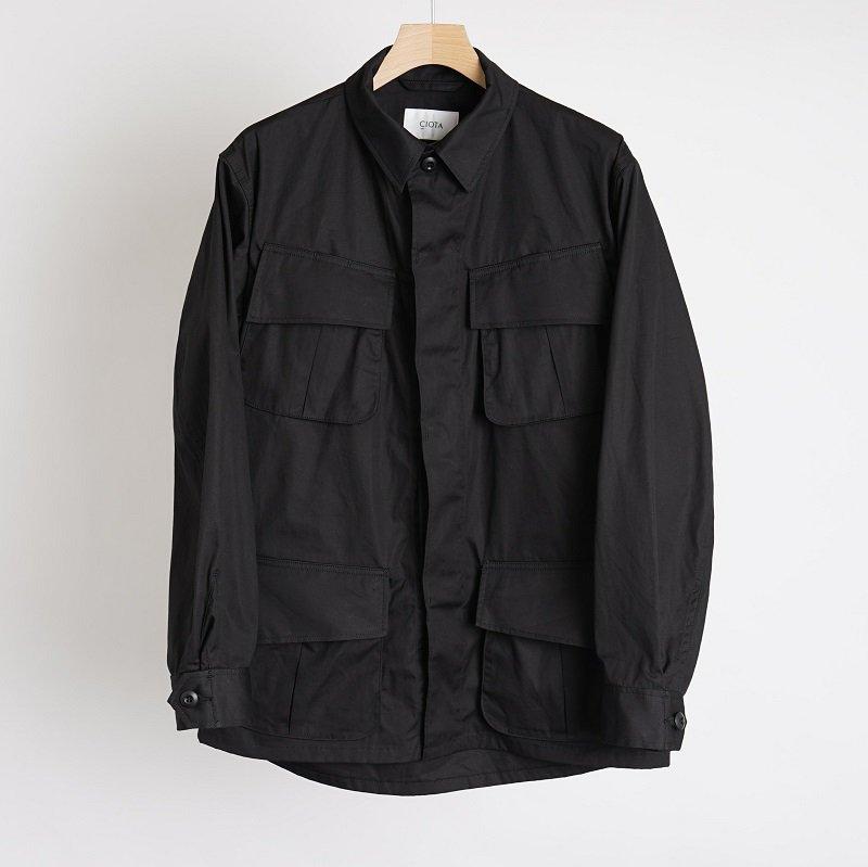 【CIOTA シオタ】 スビンコットン ウェザー ジャングルファティーグジャケット / BLACK