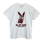 GAMING WEAR PLAYBOY 30TH WHITE/BURGUNDY PT TEE<img class='new_mark_img2' src='//img.shop-pro.jp/img/new/icons5.gif' style='border:none;display:inline;margin:0px;padding:0px;width:auto;' />