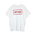 ANYTHING GOODIES<br>″ ANYTHING ″ BOX LOGO TEE<br>WHITE / NAVY<img class='new_mark_img2' src='//img.shop-pro.jp/img/new/icons6.gif' style='border:none;display:inline;margin:0px;padding:0px;width:auto;' />