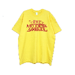 ANYTHING GOODIES<br> ″ Tropic TEE″ <br> (FRONT PRINT) <BR>YELLOW / RED<img class='new_mark_img2' src='//img.shop-pro.jp/img/new/icons6.gif' style='border:none;display:inline;margin:0px;padding:0px;width:auto;' />