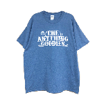 ANYTHING GOODIES<br> ″ Tropic TEE ″ <br> (FRONT PRINT)<BR> HEATHER INDIGO / WHITE