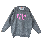 ANYTHING GOODIES <br>″ ANYTHING CITY SWEAT 10oz ″ <br>(GRAY × PINK) <img class='new_mark_img2' src='//img.shop-pro.jp/img/new/icons6.gif' style='border:none;display:inline;margin:0px;padding:0px;width:auto;' />