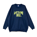 ANYTHING GOODIES <br>″ ANYTHING CITY SWEAT 10oz ″ <br>(NAVY × YELLOW) <img class='new_mark_img2' src='//img.shop-pro.jp/img/new/icons6.gif' style='border:none;display:inline;margin:0px;padding:0px;width:auto;' />