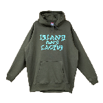 ANYTHING GOODIES <br>″ ISLAND AND CACTUS HOODIE 10oz″ <br>(OLIVE ×  PASTEL GREEN) <img class='new_mark_img2' src='//img.shop-pro.jp/img/new/icons6.gif' style='border:none;display:inline;margin:0px;padding:0px;width:auto;' />