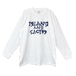 ANYTHING GOODIES <br>″ ISLAND AND CACTUS LONG SLEEVE ″ <br>(WHITE × NAVY) <img class='new_mark_img2' src='//img.shop-pro.jp/img/new/icons6.gif' style='border:none;display:inline;margin:0px;padding:0px;width:auto;' />