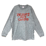 ANYTHING GOODIES <br>″ ISLAND AND CACTUS LONG SLEEVE ″ <br>(GRAY × RED) <img class='new_mark_img2' src='https://img.shop-pro.jp/img/new/icons6.gif' style='border:none;display:inline;margin:0px;padding:0px;width:auto;' />