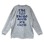 ANYTHING GOODIES <br>″ THE ANYTHING GOODIES CREW LONG SLEEVE ″ <br>(GRAY × NAVY) <img class='new_mark_img2' src='https://img.shop-pro.jp/img/new/icons6.gif' style='border:none;display:inline;margin:0px;padding:0px;width:auto;' />