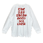 ANYTHING GOODIES <br>″ THE ANYTHING GOODIES CREW LONG SLEEVE ″ <br>(WHITE × RED) <img class='new_mark_img2' src='https://img.shop-pro.jp/img/new/icons6.gif' style='border:none;display:inline;margin:0px;padding:0px;width:auto;' />