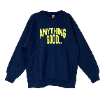 ANYTHING GOODIES <br>″ ANYTHING CITY SWEAT 12oz ″ <br>(NAVY × YELLOW) <img class='new_mark_img2' src='//img.shop-pro.jp/img/new/icons6.gif' style='border:none;display:inline;margin:0px;padding:0px;width:auto;' />