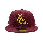 ANYTHING GOODIES <br>″ 6PANEL CAP ″ <br>(BURGANDY × YELLOW) <img class='new_mark_img2' src='//img.shop-pro.jp/img/new/icons6.gif' style='border:none;display:inline;margin:0px;padding:0px;width:auto;' />