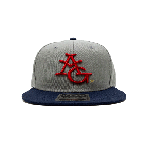ANYTHING GOODIES <br>″ 6PANEL CAP ″ <br>(GRAY × NAVY × RED) <img class='new_mark_img2' src='https://img.shop-pro.jp/img/new/icons6.gif' style='border:none;display:inline;margin:0px;padding:0px;width:auto;' />