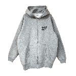 ANYTHING GOODIES <br>″ K.K SCRIPT HOODIE ZIP UP ″ <br>(GRAY×BLACK)<img class='new_mark_img2' src='https://img.shop-pro.jp/img/new/icons6.gif' style='border:none;display:inline;margin:0px;padding:0px;width:auto;' />