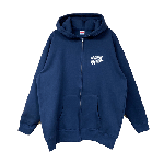 ANYTHING GOODIES <br>″ K.K SCRIPT HOODIE ZIP UP ″ <br>(NAVY×WHITE)<img class='new_mark_img2' src='//img.shop-pro.jp/img/new/icons6.gif' style='border:none;display:inline;margin:0px;padding:0px;width:auto;' />