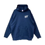 ANYTHING GOODIES <br>″ K.K SCRIPT HOODIE PULL OVER ″ <br>(NAVY×WHITE)<img class='new_mark_img2' src='//img.shop-pro.jp/img/new/icons6.gif' style='border:none;display:inline;margin:0px;padding:0px;width:auto;' />