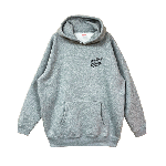 ANYTHING GOODIES <br>″ K.K SCRIPT HOODIE PULL OVER ″ <br>(GRAY×BLACK)<img class='new_mark_img2' src='//img.shop-pro.jp/img/new/icons6.gif' style='border:none;display:inline;margin:0px;padding:0px;width:auto;' />