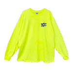 ANYTHING GOODIES <br>″ K.K SCRIPT LONG SLEEVE TEE NEON SERIES ″ <br>(NEON YELLOW×BLACK)<img class='new_mark_img2' src='//img.shop-pro.jp/img/new/icons6.gif' style='border:none;display:inline;margin:0px;padding:0px;width:auto;' />