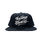 ANYTHING GOODIES <br>″ K.K SCRIPT CAP ″ <br>(BLACK×WHITE)<img class='new_mark_img2' src='//img.shop-pro.jp/img/new/icons6.gif' style='border:none;display:inline;margin:0px;padding:0px;width:auto;' />