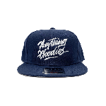 ANYTHING GOODIES <br>″ K.K SCRIPT CAP ″ <br>(NAVY×WHITE)<img class='new_mark_img2' src='https://img.shop-pro.jp/img/new/icons6.gif' style='border:none;display:inline;margin:0px;padding:0px;width:auto;' />