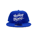 ANYTHING GOODIES <br>″ K.K SCRIPT CAP ″ <br>(ROYAL BLUE×WHITE)<img class='new_mark_img2' src='https://img.shop-pro.jp/img/new/icons6.gif' style='border:none;display:inline;margin:0px;padding:0px;width:auto;' />