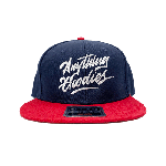 ANYTHING GOODIES <br>″ K.K SCRIPT CAP ″ <br>(NAVY×RED×WHITE)<img class='new_mark_img2' src='//img.shop-pro.jp/img/new/icons6.gif' style='border:none;display:inline;margin:0px;padding:0px;width:auto;' />