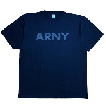 ANYTHING GOODIES <br>″ ARNY TEE″ <br>(BLACK × BLACK PRINT) <img class='new_mark_img2' src='https://img.shop-pro.jp/img/new/icons6.gif' style='border:none;display:inline;margin:0px;padding:0px;width:auto;' />
