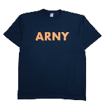 ANYTHING GOODIES <br>″ ARNY TEE″ <br>(BLACK × ORANGE PRINT) <img class='new_mark_img2' src='//img.shop-pro.jp/img/new/icons6.gif' style='border:none;display:inline;margin:0px;padding:0px;width:auto;' />