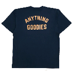 ANYTHING GOODIES <br>″ ANYTHING GOODIES ARCH LOGO″ <br>(BLACK × ORANGE PRINT) <img class='new_mark_img2' src='//img.shop-pro.jp/img/new/icons6.gif' style='border:none;display:inline;margin:0px;padding:0px;width:auto;' />