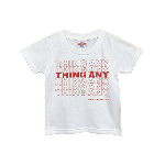 ANYTHING GOODIES <br>″ THING ANY TEE KIDS ″ <br>(WHITE × RED)