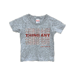 ANYTHING GOODIES <br>″ THING ANY TEE KIDS ″ <br>(GRAY × RED)