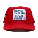 ANYTHING GOODIES <br>″ SUPPORT YOUR ANY LOCAL BUSINESS CAP ″ <br>(RED) <img class='new_mark_img2' src='https://img.shop-pro.jp/img/new/icons6.gif' style='border:none;display:inline;margin:0px;padding:0px;width:auto;' />